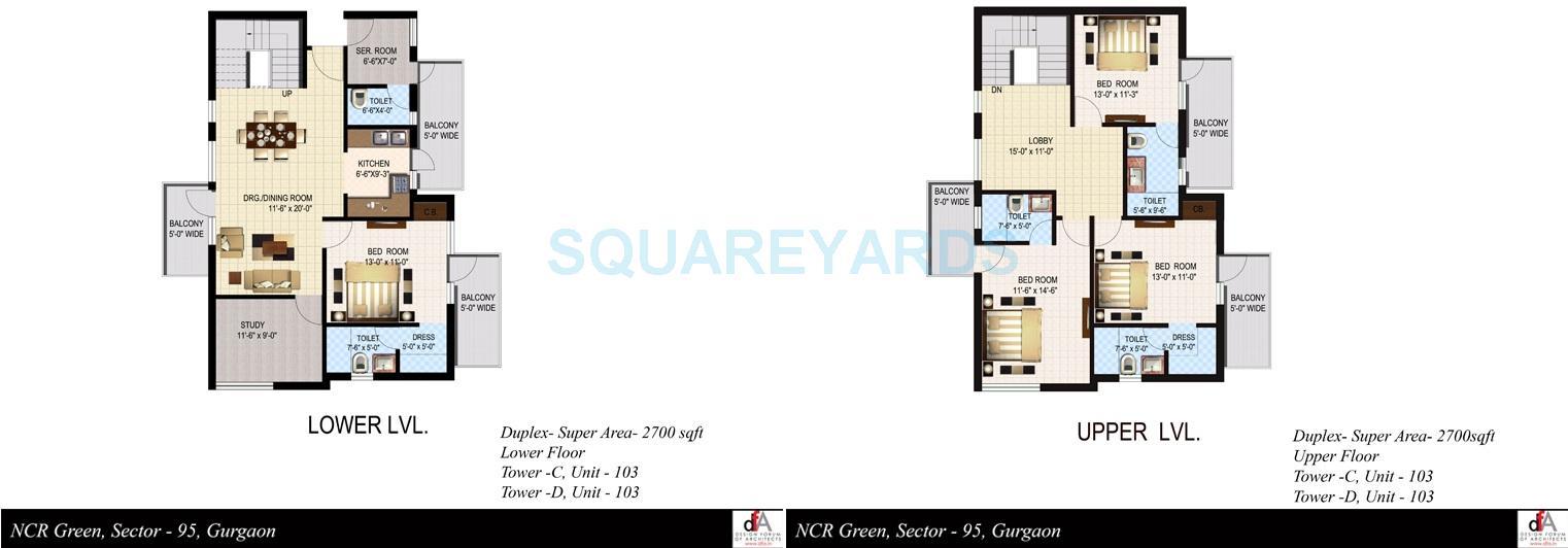 sidhartha ncr green apartments duplex apartment 4bhk 2700sqft 1