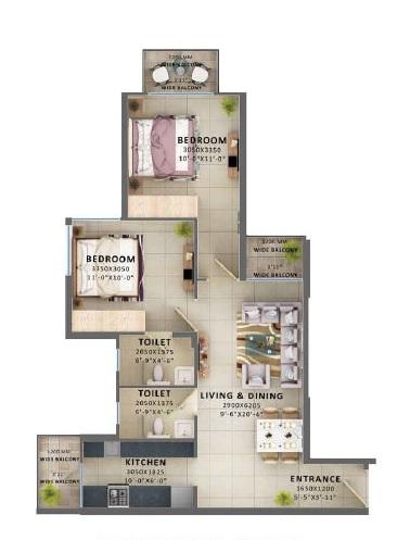 signature global aspire apartment 2bhk 595sqft31