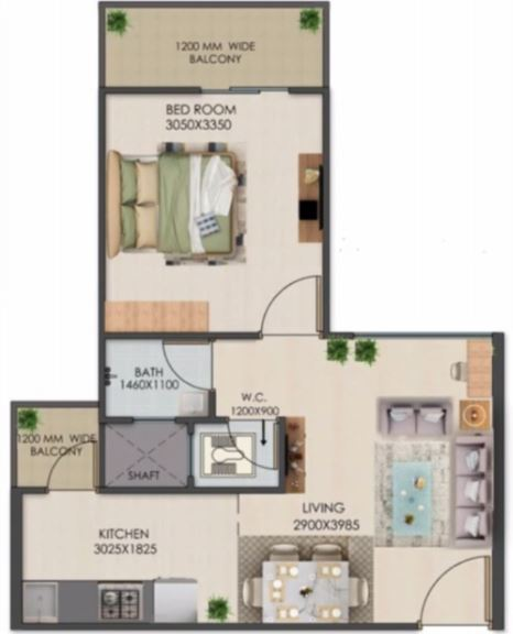 signature global golf greens apartment 1 bhk 355sqft 20202213092253