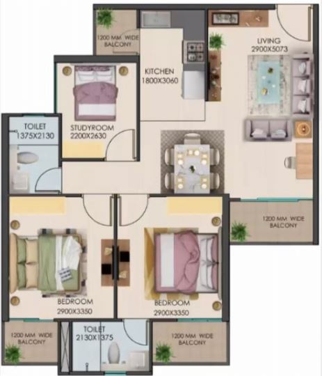signature global golf greens apartment 3 bhk 633sqft 20202113092125