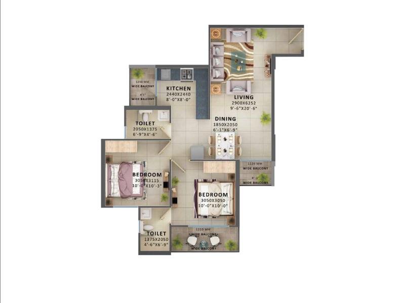 signature global prime apartment 2bhk 590sqft21