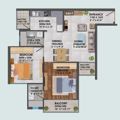 signature global proxima apartment 2bhk 588sqft11