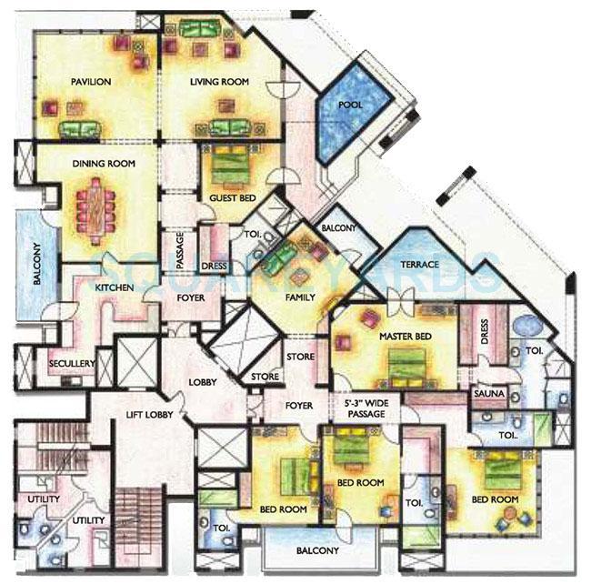 silverglades the ivy penthouse 5bhk sq 7800sqft 1