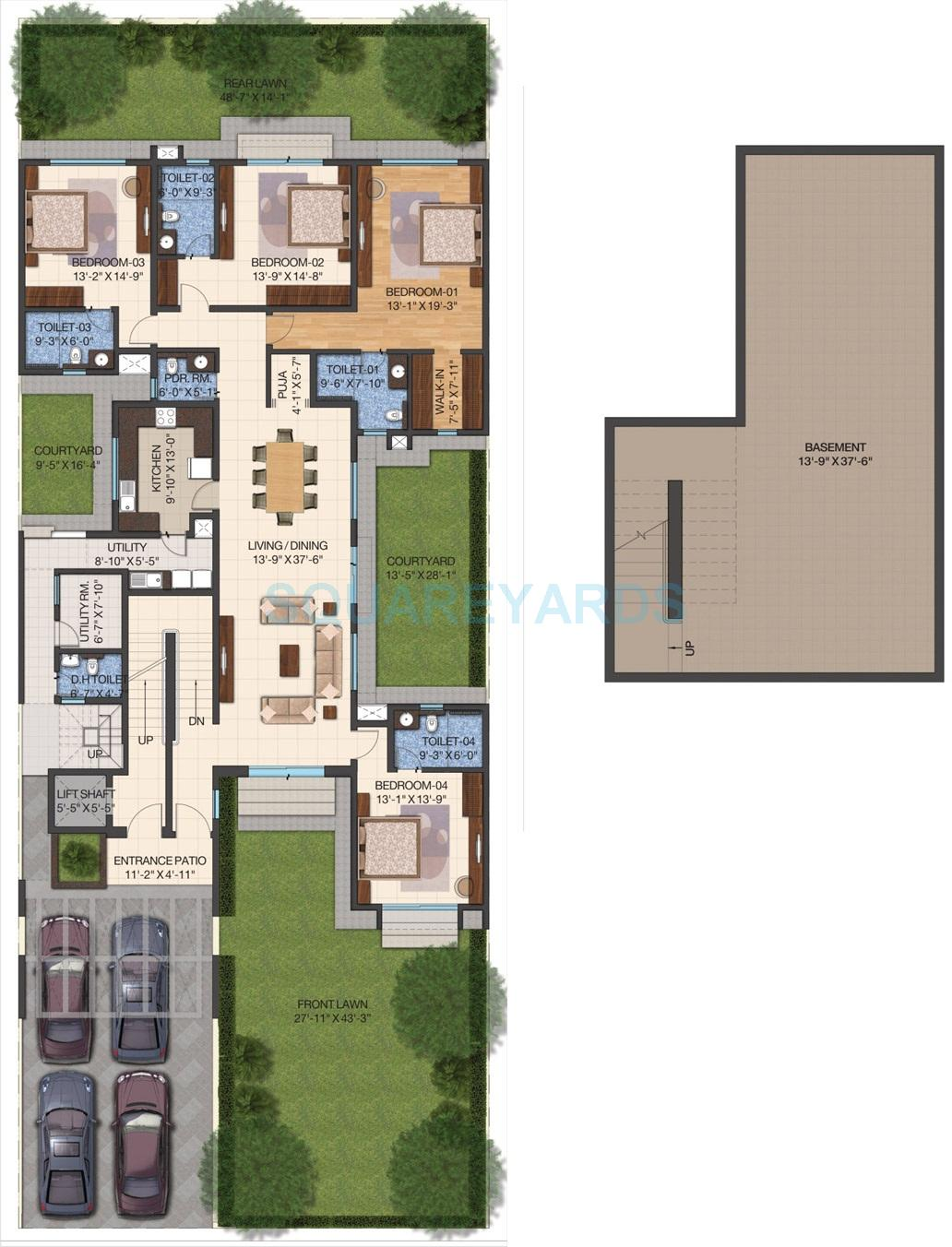 sobha international city phase 1 independent floor 4bhk 3854sqft 1