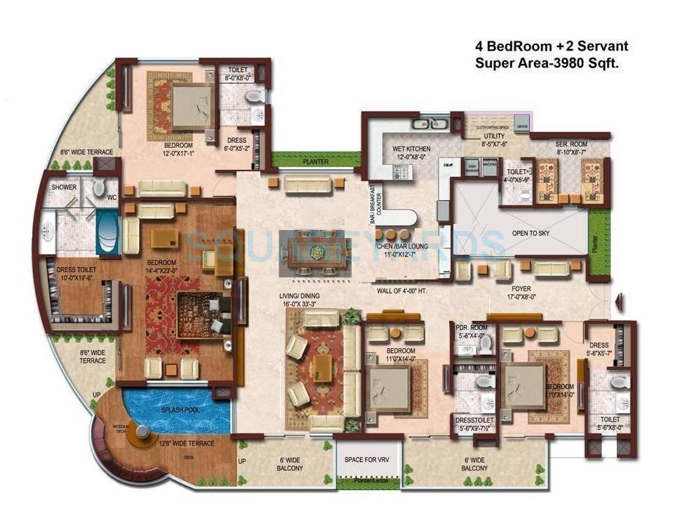 spaze vesta apartment 4bhk sq 3980sqft 1