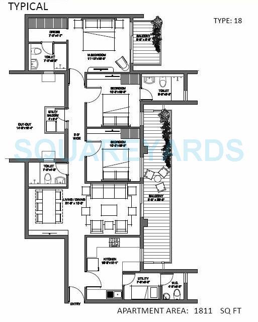 spire woods apartment 3bhk 1811sqft 1