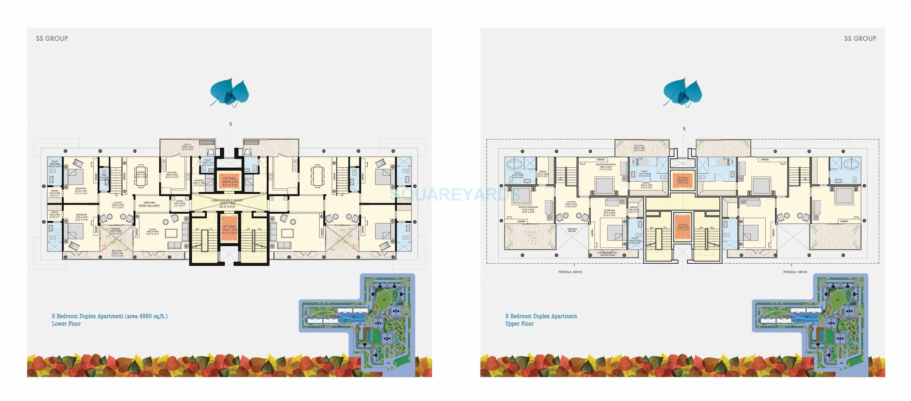ss the leaf duplex apartment 5bhk 4950sqft 1