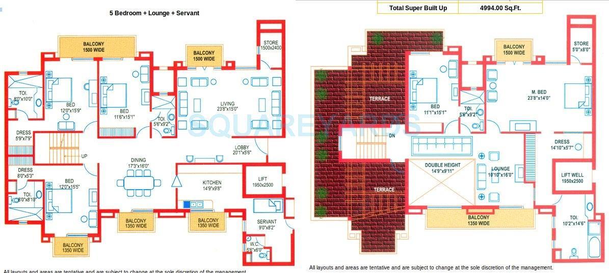 suncity heights apartment 5bhk sq 4994sqft 1