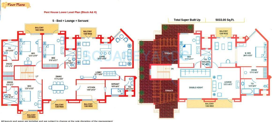suncity heights penthouse 5bhk sq 5033sqft 1
