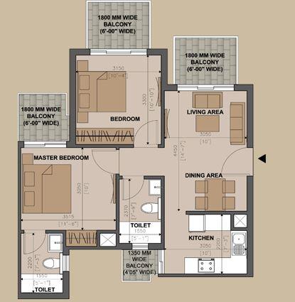 supertech belfair apartment 2bhk 1020sqft 20200001160034