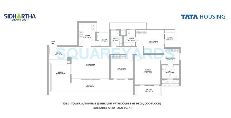tata gurgaon gateway apartment 3bhk 2520sqft 1