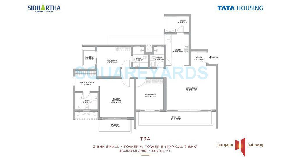 tata housing gurgaon gateway apartment 3bhk 2215sqft 1