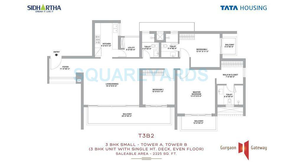 tata housing gurgaon gateway apartment 3bhk 2225sqft 1