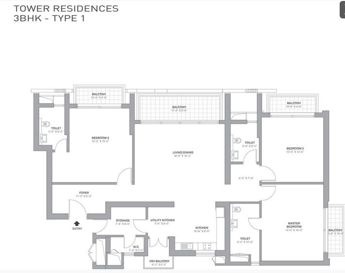 tata primanti tower residences apartment 3bhk 2550sqft 1