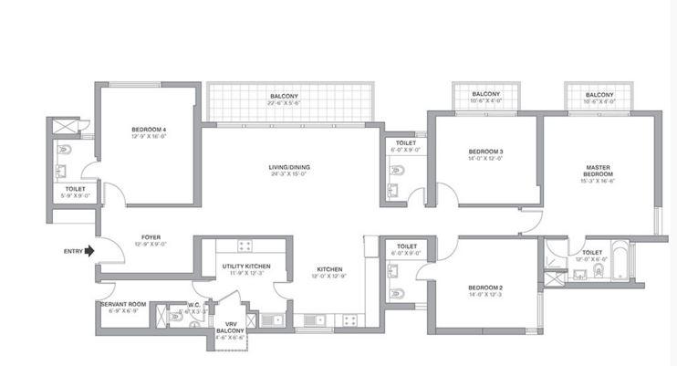 tata primanti tower residences apartment 4bhk 3320sqft 1