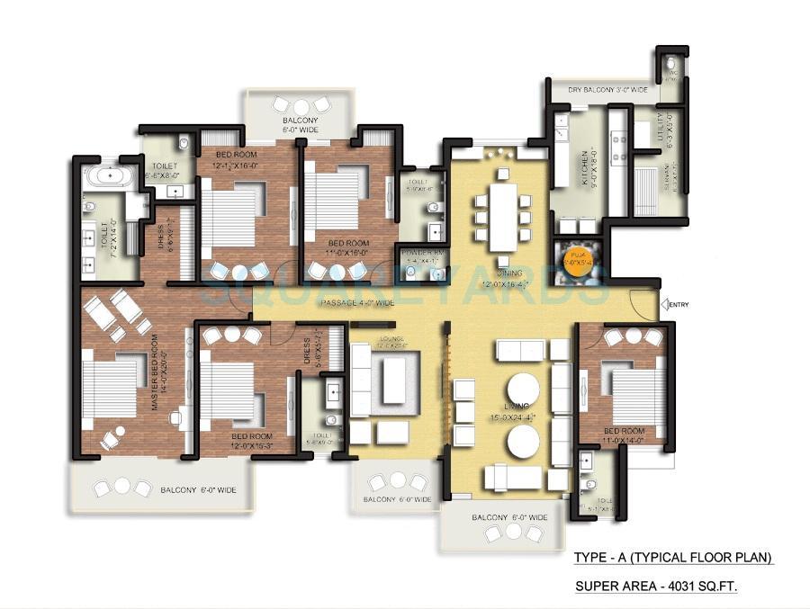 tulip ace apartment 5bhk 4031sqft 1