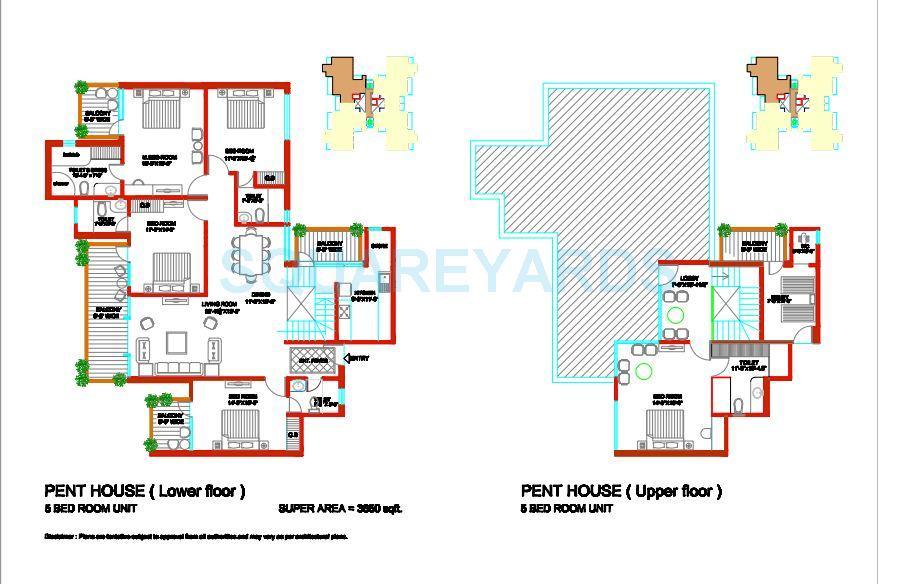 tulip ivory apartments penthouse 5bhk 3850sqft 1