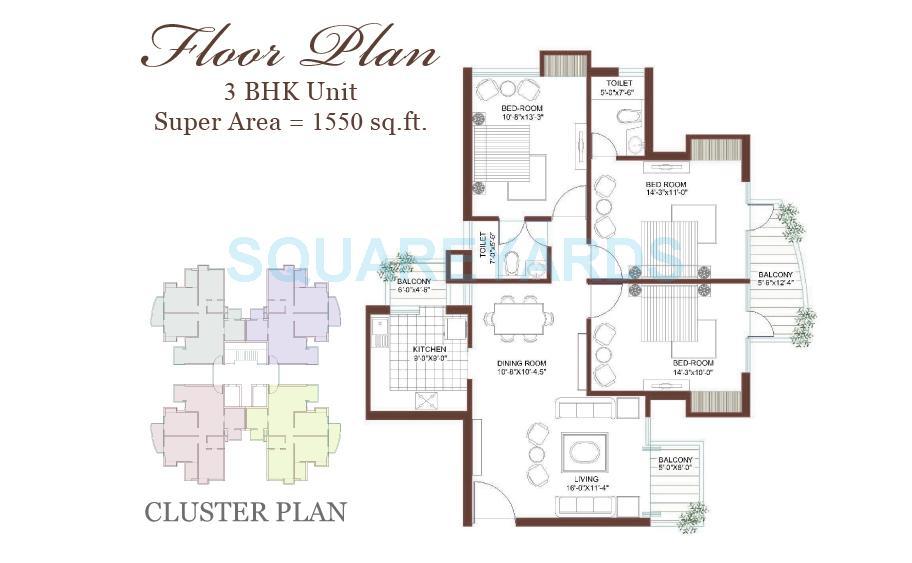 tulip petals apartment 3bhk 1550sqft 1