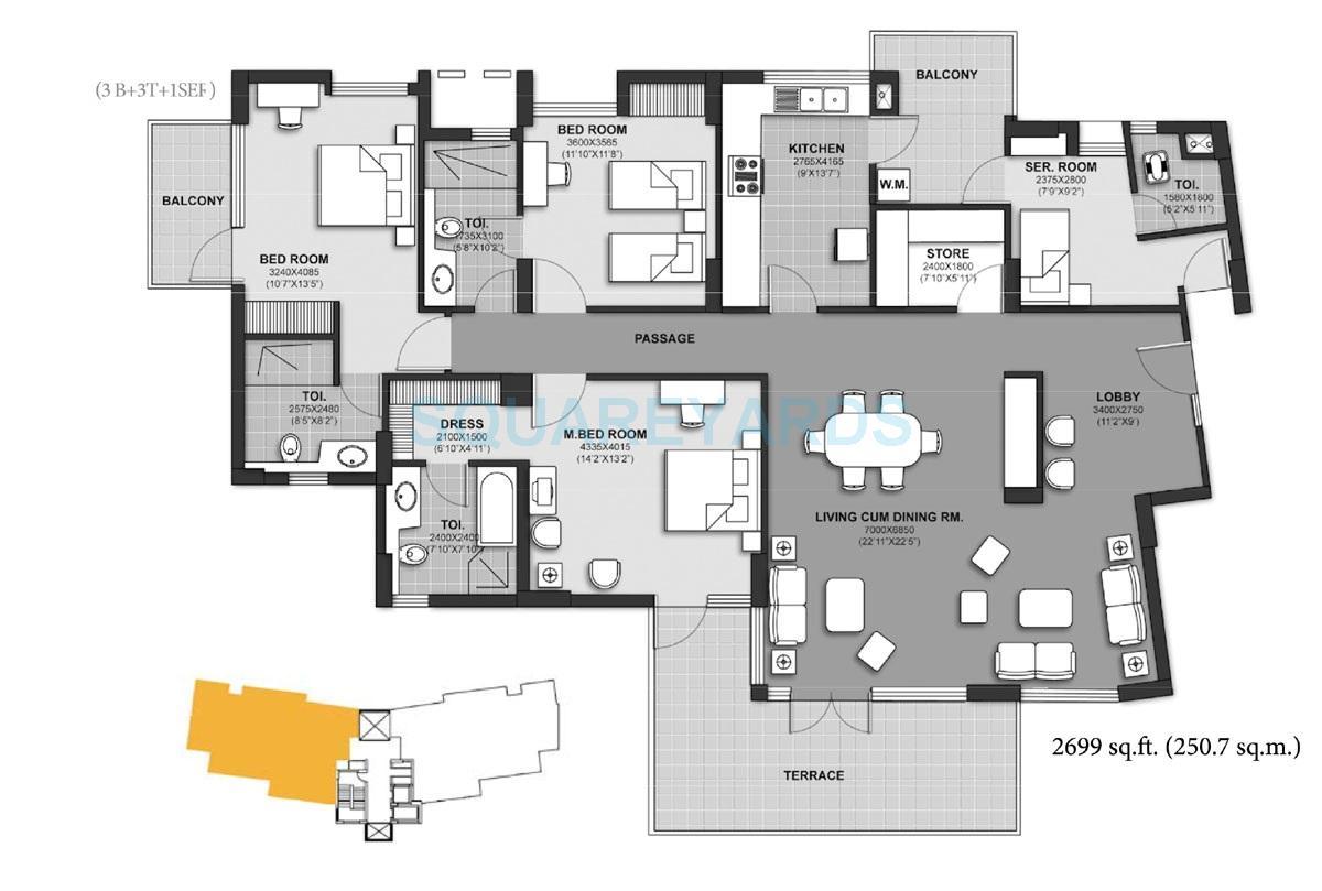 unitech harmony apartment 3b 3t 1ser 2699sqft 1