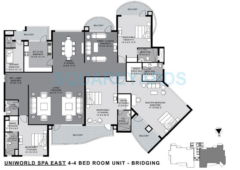unitech the world spa east apartment 4bhk 4499sqft 1