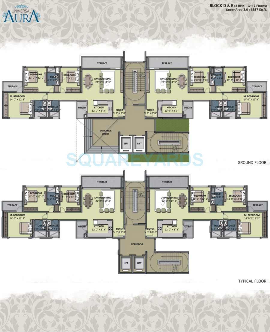 universal aura apartment 3bhk 1587sqft 1