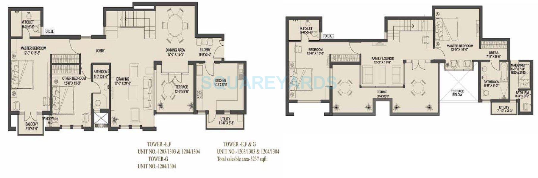 uppals canary homes apartment 4bhk sq 3237sqft 1