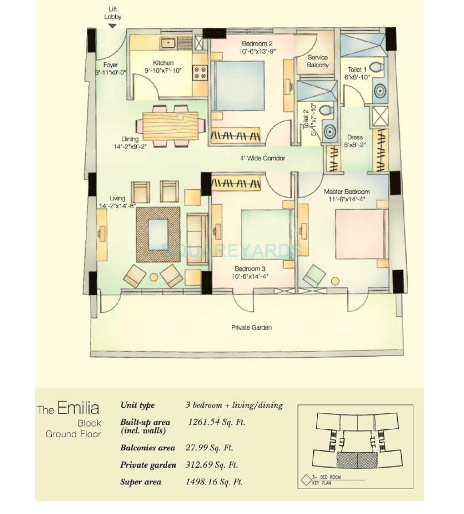 vatika city emilia apartment 3bhk 1498 16sqft 1