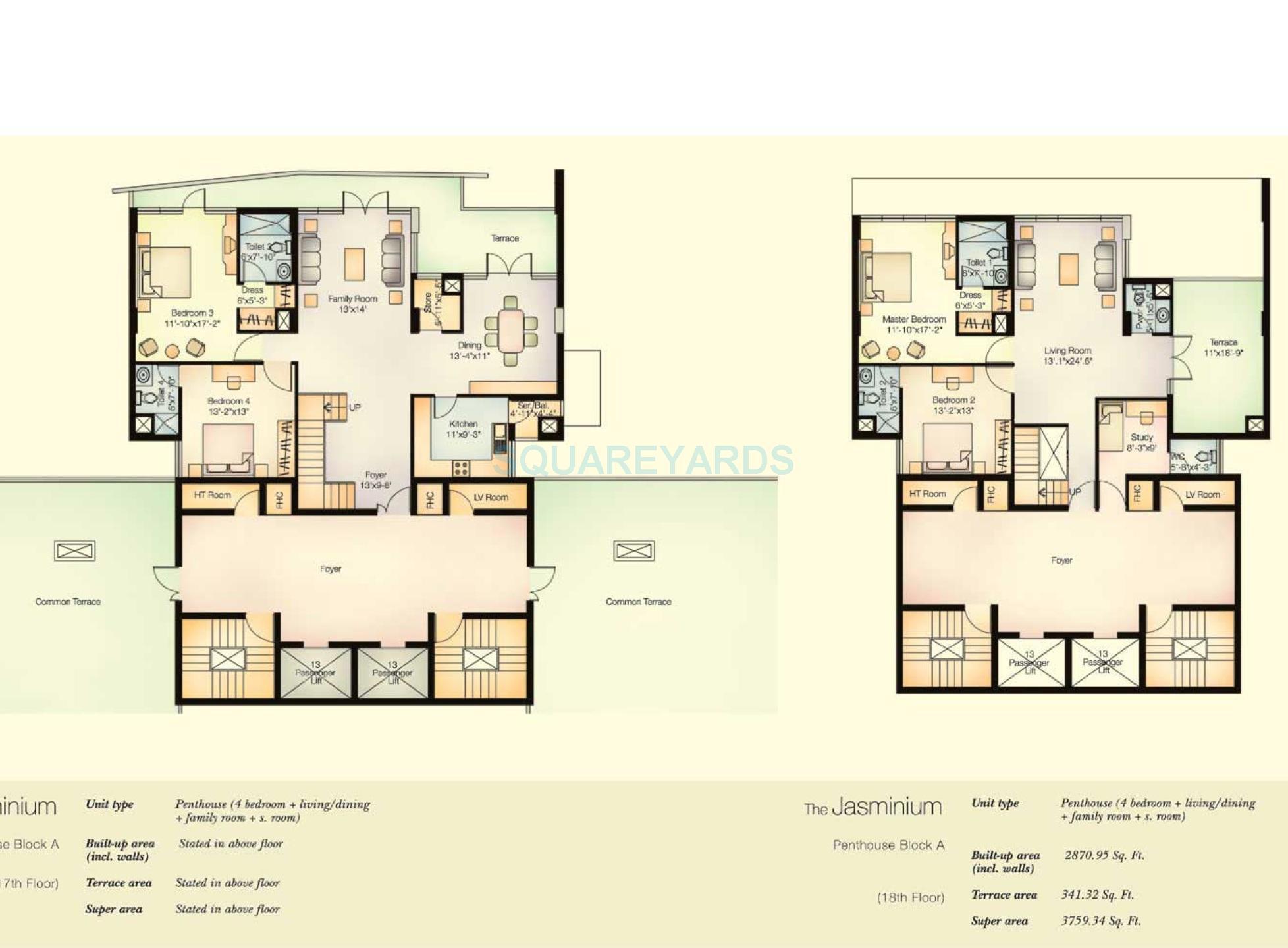 vatika city jasminium penthouse 4bhk 3759 34sqft 1