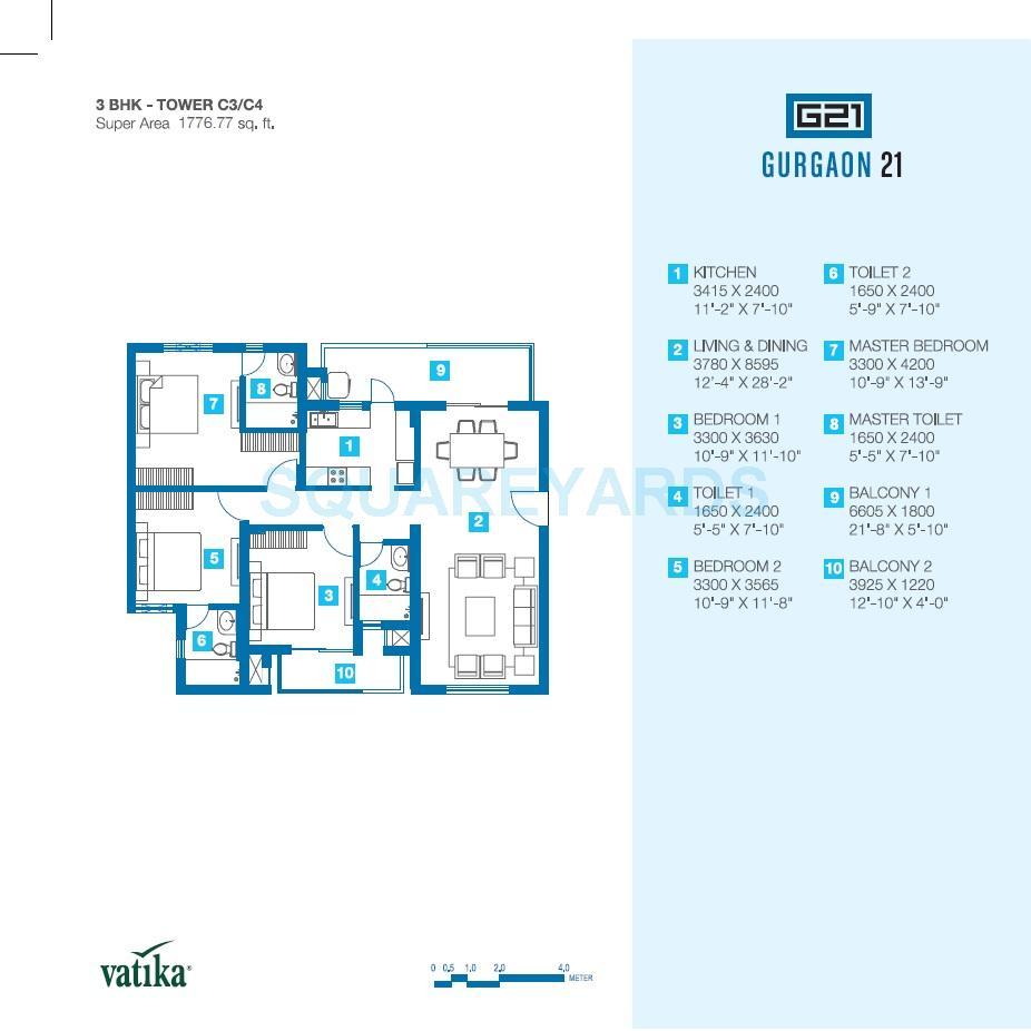 vatika gurgaon 21 apartment 3bhk 1778sqft 1