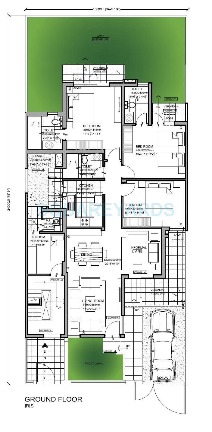 vatika india next floors builder floor iris gf 3bhk 1962sqft 1