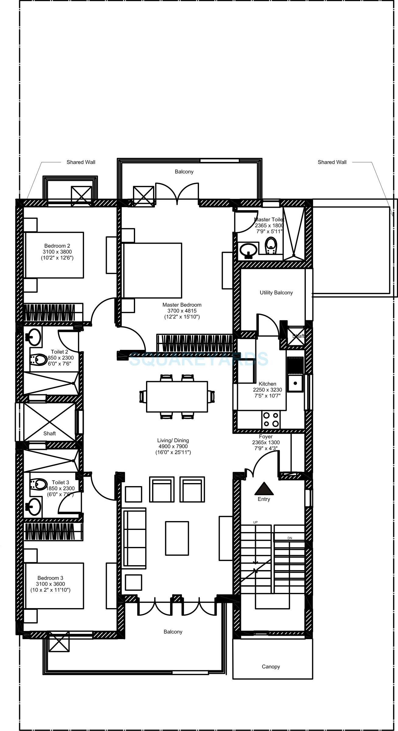 vatika inxt floors builder floor ff 3bhk 3186 11sqft 1