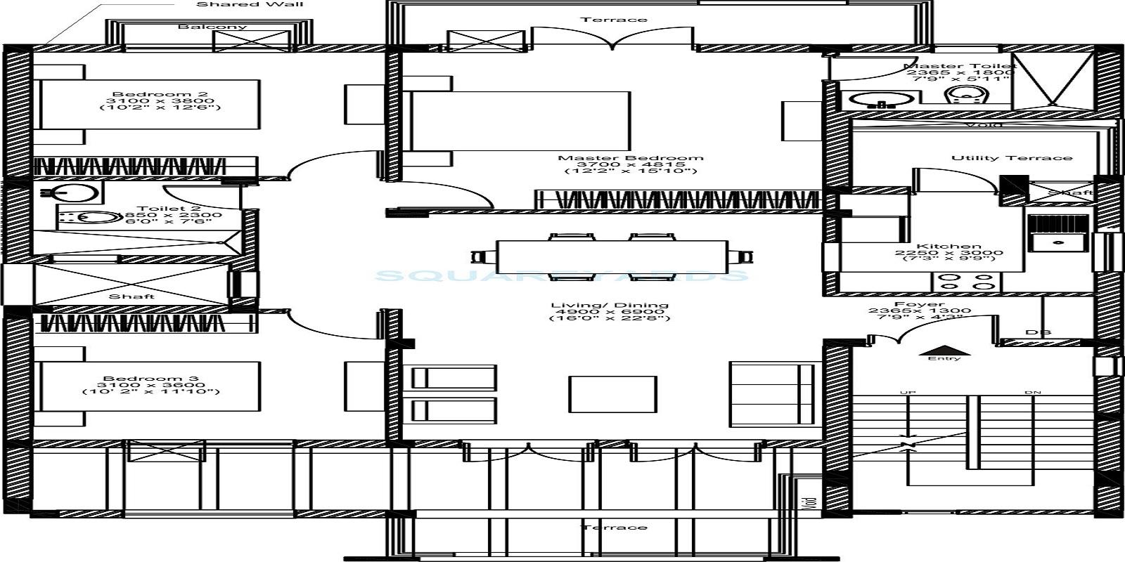 vatika inxt floors ind floor 3bhk 1386sqft 91