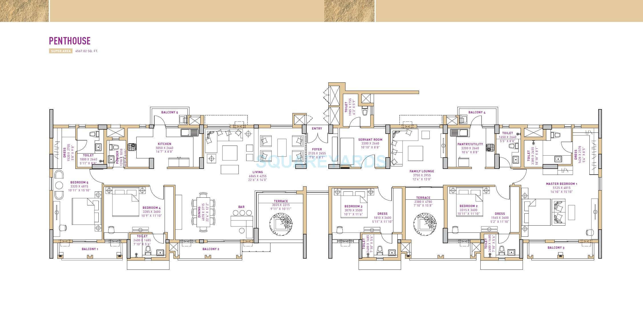 vatika seven lamps penthouse 5bhk 4567 02sqft 1