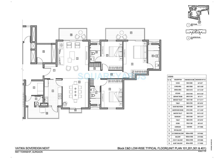 vatika sovereign next apartment 3bhk 2600sqft 1