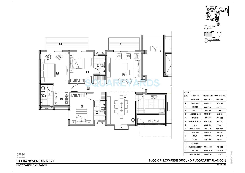 vatika sovereign next apartment 3bhk 2650sqft 1