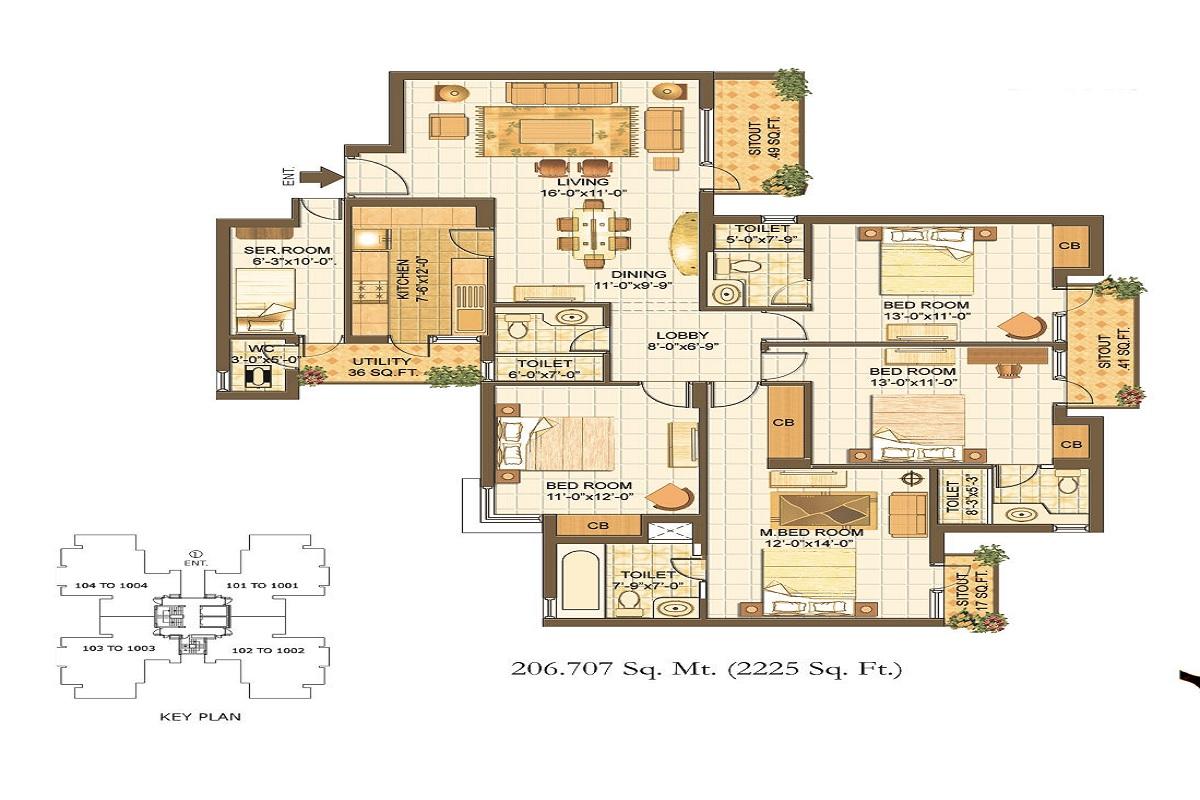 vipul lavanya apartment 4bhk 2225sqft 61