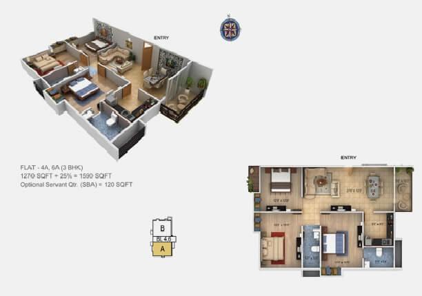 paramount grande apartment 3bhk 1590sqft1