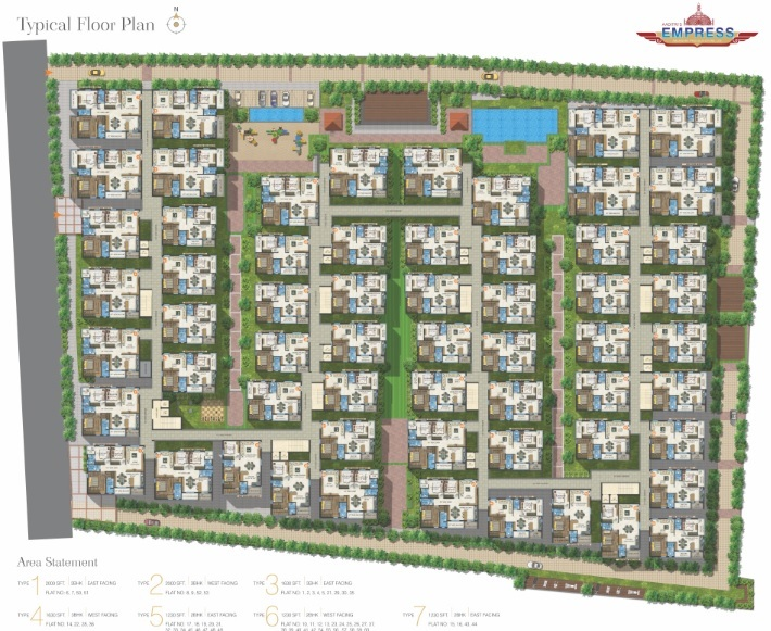 aaditris empire apartments project master plan image1