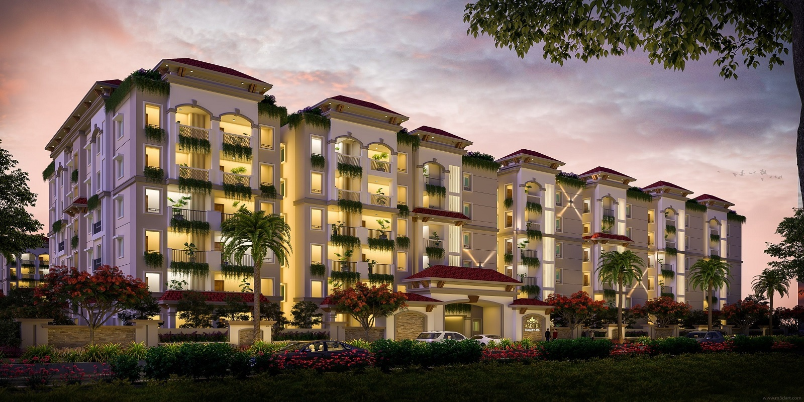 aaditris empire apartments project tower view2