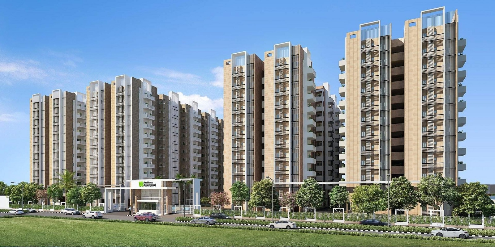 Ambience Courtyard - Price Starting @ 54.88 Lac, 2 BHK-3 BHK BHK Floor  Plans Available in Manikonda, Hyderabad