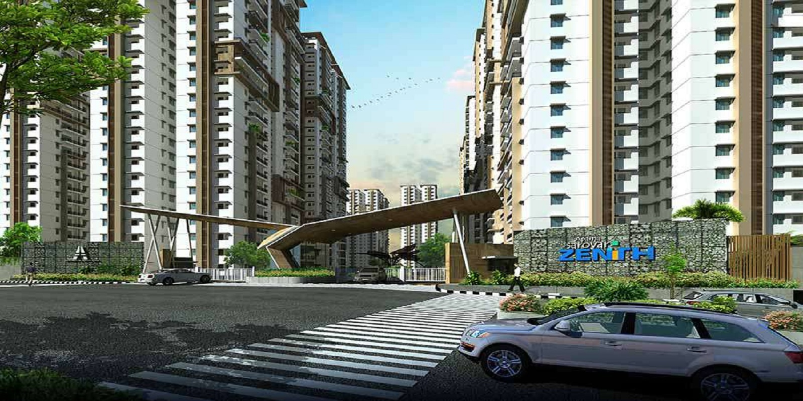 aparna sarovar zenith project entrance view1