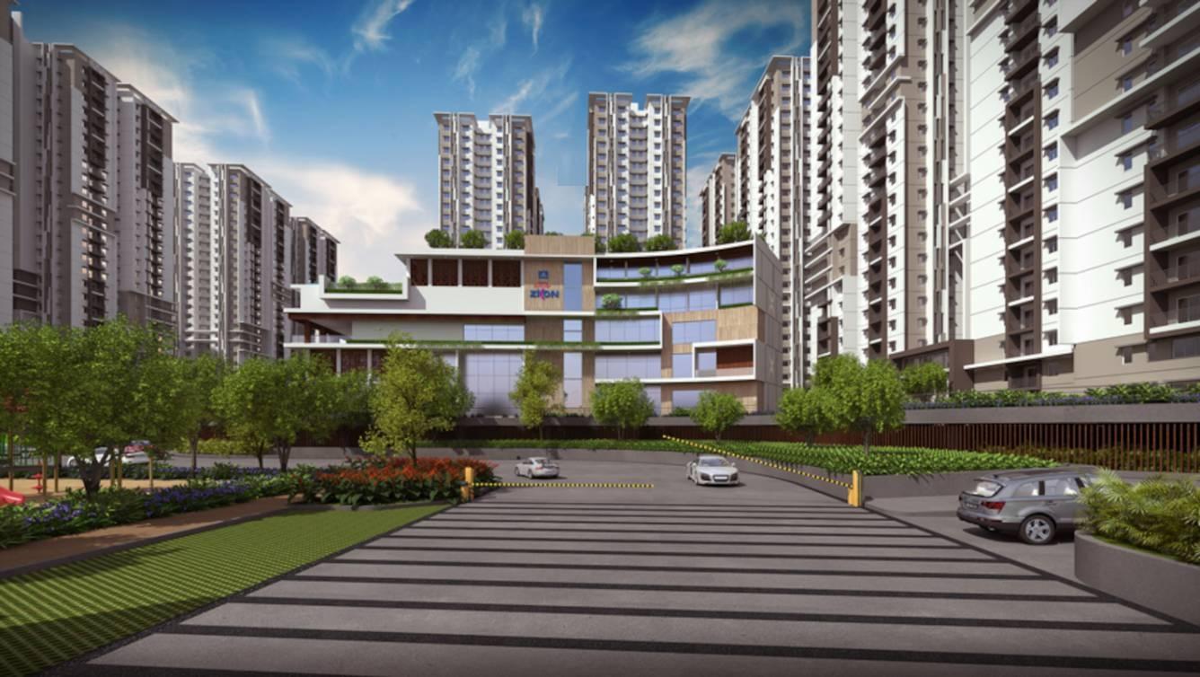 aparna sarovar zicon project tower view3