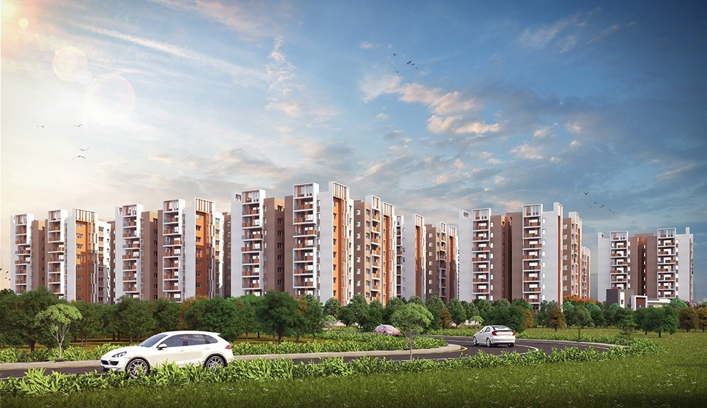 aparna serenity project tower view2