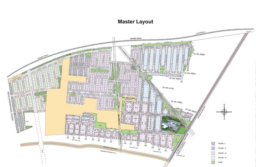 aparna western meadows phase 3 master plan image5