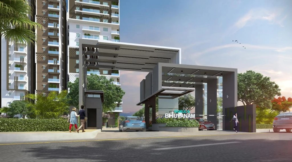 gokuls bhuvanam project entrance view1