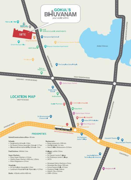 gokuls bhuvanam project location image1
