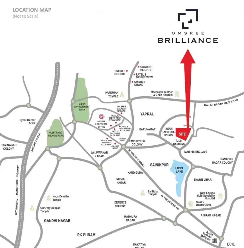 om sree brilliance project location image1