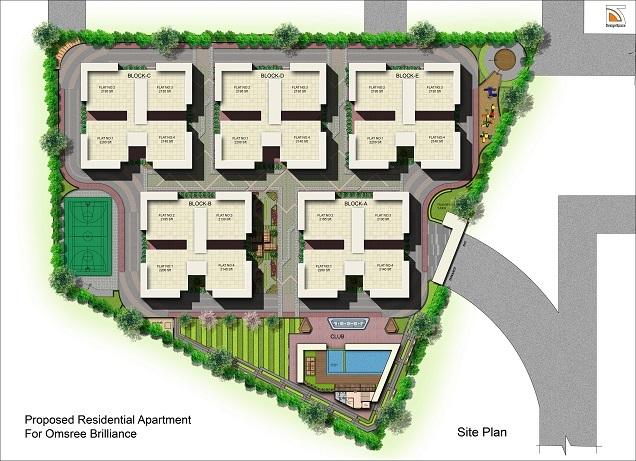 om sree brilliance project master plan image1