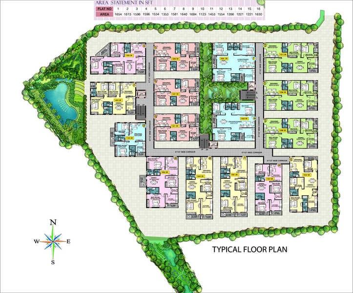 shanta sriram padmanabha residency project master plan image1