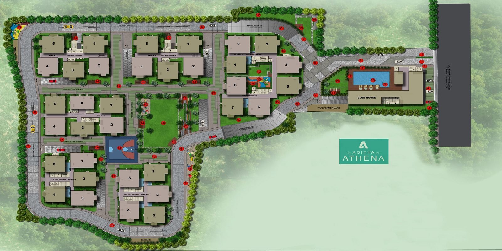 sri aditya athena master plan image5